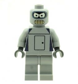 Bender Bending Rodríguez (Fictional Robot) Custom Designed Minifigure